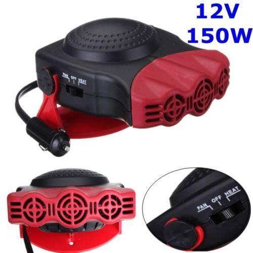 Car heater 12v céramique ventilateur refroidissement par air chaud dash frost anti-buée chauffage van ice