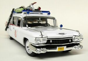 Autoworld-1-18-Scale-1959-Cadillac-Ecto-1-Ghostbusters-Slimer-Diecast-Model-Car