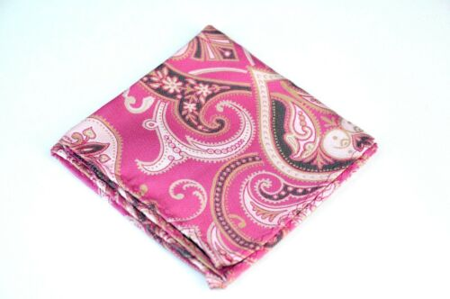 Upsala Pink Rose Silk  $75 Retail New Lord R Colton Masterworks Pocket Square