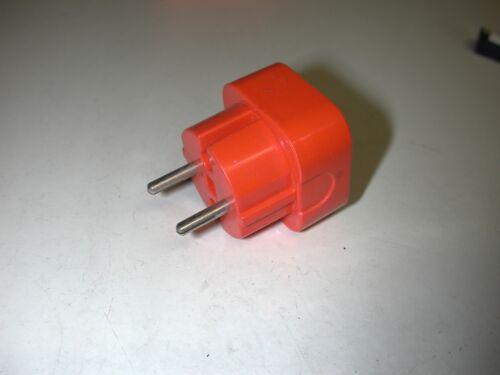 Multiprise électrique double orange de marque Brun 6A 250V// 1300 W//Vintage 70/'s