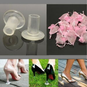5c3d79a12e Details about 10 20 30 Stiletto High Heel Protector Covers Shoes Stopper  Cylinder Shape New