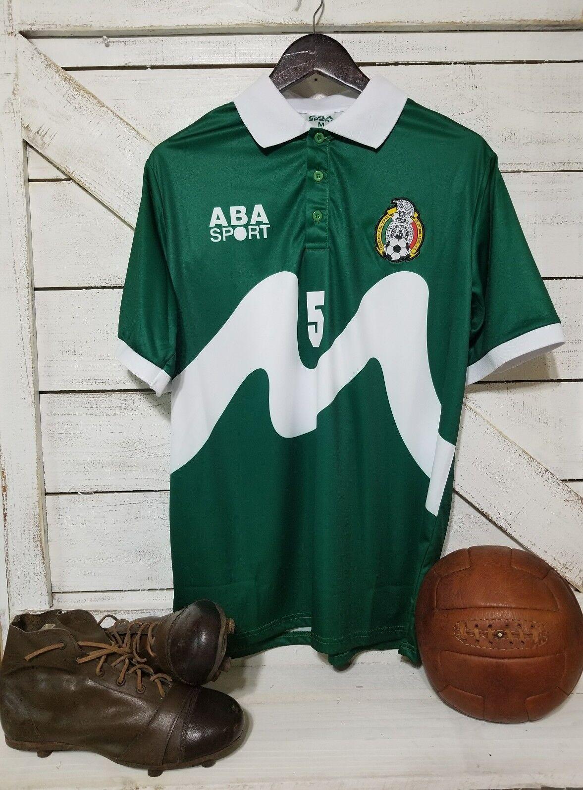 ABA Sport Mexico 1995 Ramon RAMIREZ \ 5 groen Retro Jersey afmeting L
