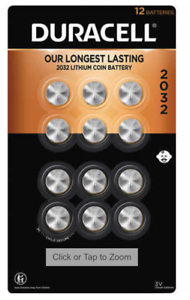 Duracell Lithium 2032 Coin Batteries 12-count Expiration 2030 NEW SEALED