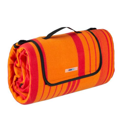 Picknickdecke 200x200cm Stranddecke Fleecedecke Picnic Blanket Isodecke orange