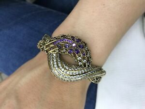 Turkish-Handmade-Amethyst-Sterling-Silver-925-Bracelet-Bangle-Cuff
