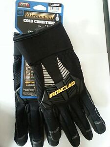 New-IRONCLAD-Cold-Condition-Insulated-Work-Gloves-Water-Resistant-Black-L-or-XL