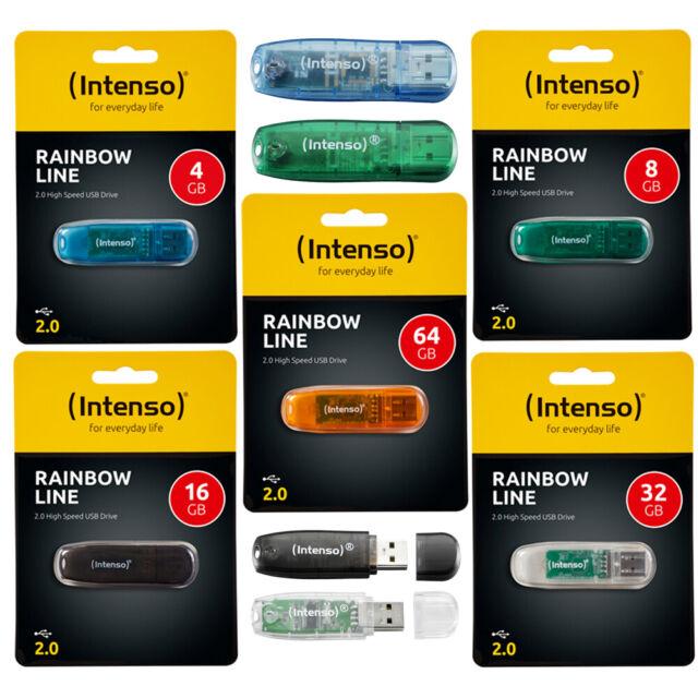 Intenso RAINBOW LINE 2.0 Clé USB 4 - 64 Go Clé USB Flash Drive Mémoire Stick