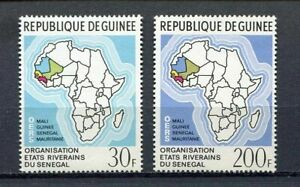 27263A Dealer Stock Guinea 1970 MNH New Map Of Africa 2v X 10 Sets