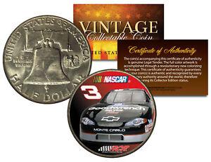 DALE-EARNHARDT-3-NASCAR-Colorized-1951-Franklin-Silver-Half-Dollar-US-Coin