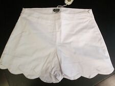 White Scallop Shorts by Mud Pie Size Large (12-14)
