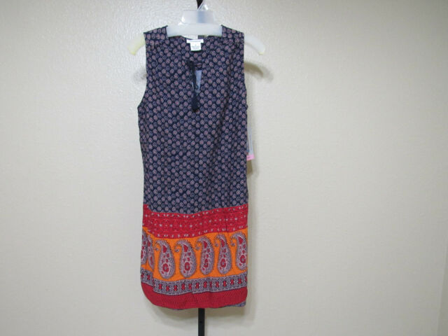 e5a30d6808 NWT beachlunchlounge Womens Bohemian Boho Dress-Indigo  Saffi-Large-MSRP-$58.00