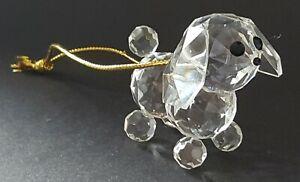 Swarovski-clear-cut-crystal-glass-dog-ornament-figurine