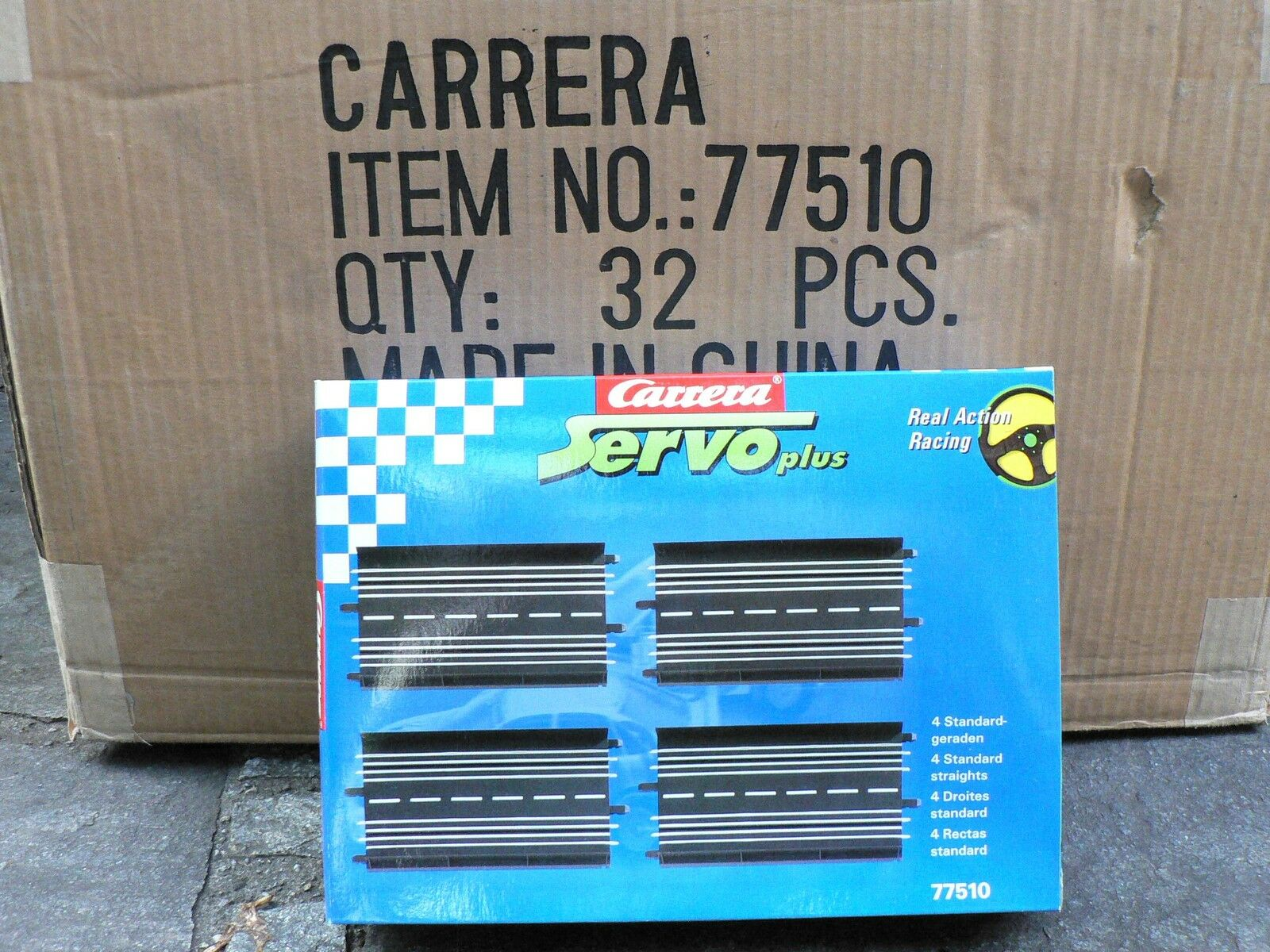Carrera Servo 140plus 2 Standardgeraden  Gerade 77509 NEU