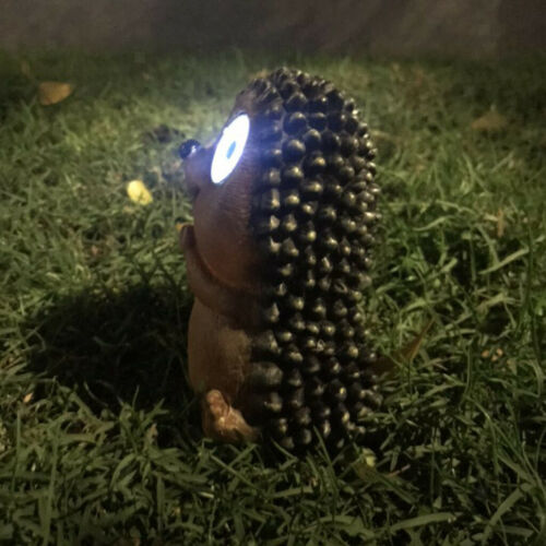 Bright Eyes Solar Light LED Pet Animal Garden Ornaments Lighting Hedgehog