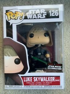 Luke-Skywalker-Hooded-Funko-Pop-Vinyl-New-in-Mint-Box-SWC-sticker-Protector