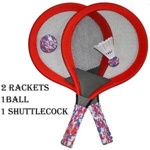 Nuevos-ninos-Badminton-Raqueta-De-Tenis-X-2-Play-Set-1-Juegos-de-bola-de-jardin-al-aire-libre