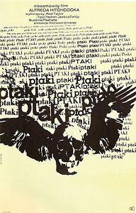 THE-BIRDS-Movie-Poster-Horror-Alferd-Hitchcock-Pyscho-Polish-Czech-Art
