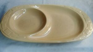 Longaberger Woven Traditions Paprika Vitrified Pottery Snack Lunch Plate w//Bowl