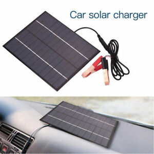 Details about 12V Car Camping Boat Auto Battery Charger 5 5W Solar Panel  with Battery Clip