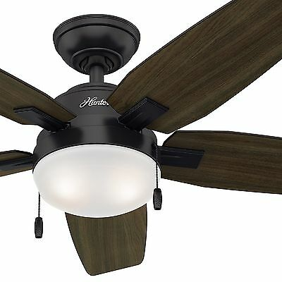 """46"""" Hunter Noble Bronze Contemporary Ceiling Fan - CFL Light Kit Included"""