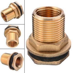"1/2""Female 3/4""Male Soild Brass Water Tank Connector Theaded Bulkhead Hose"
