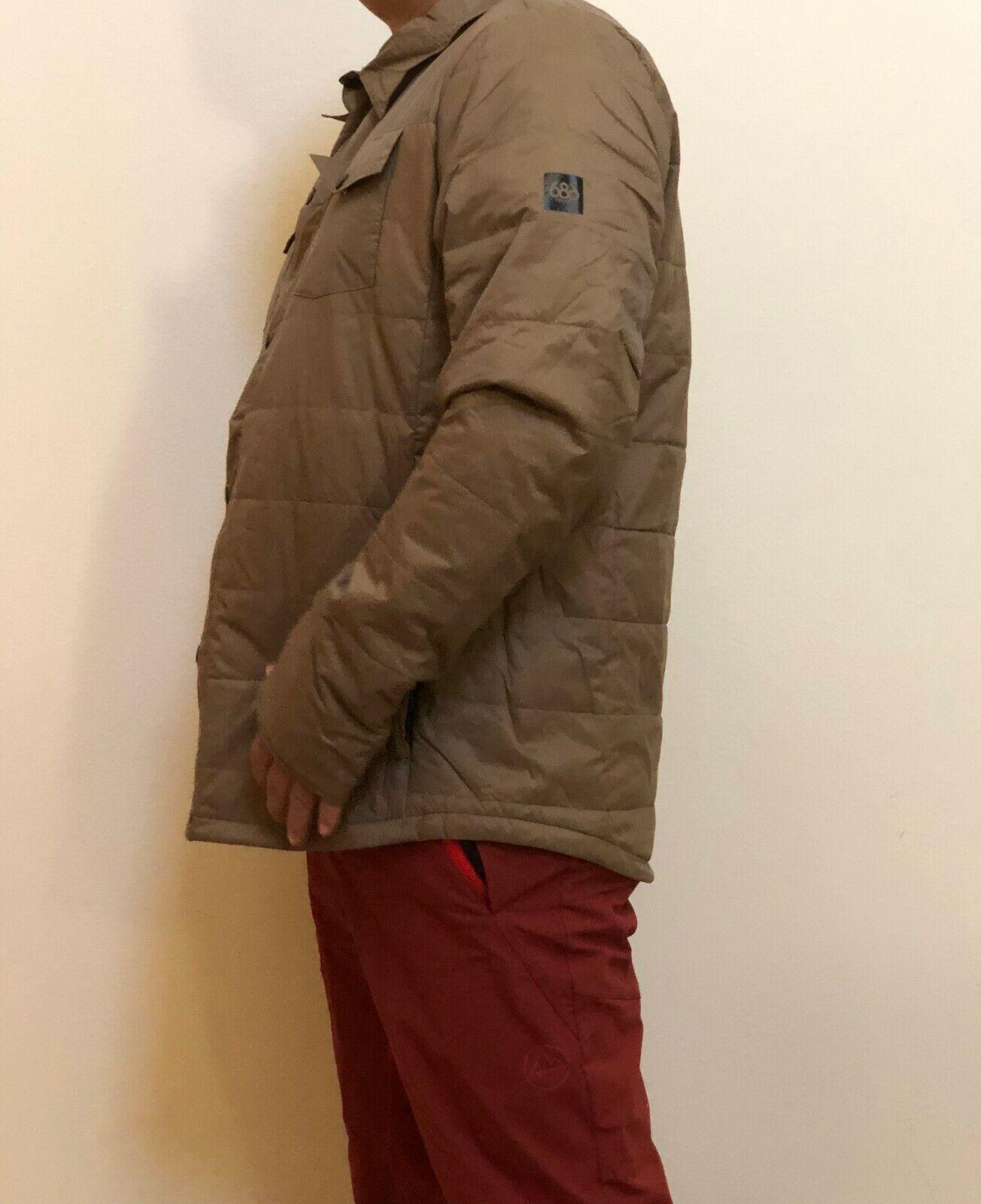 686 Primaloft All Day Flannel (L) Khaki L9WGNS05-KHA