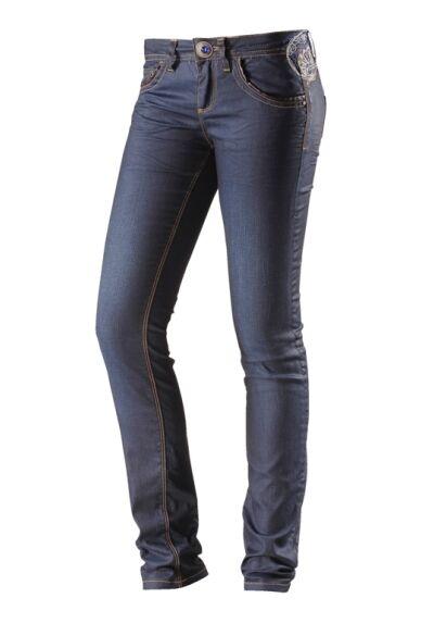 Desigual Damen Slim Fit Jeans Dunkelblau W26 L32