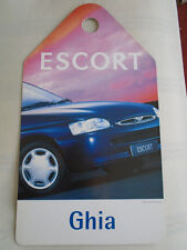 Ford Escort Ghia Showroom Rear View Mirror Hanger brochure c1996 ref SP 5143