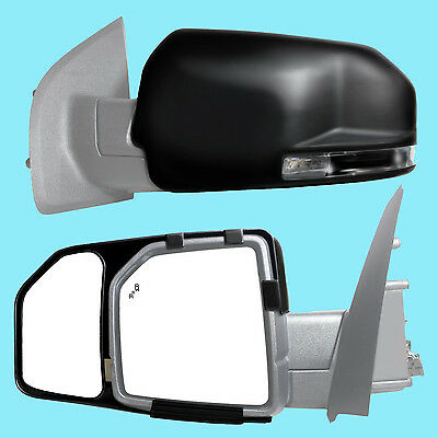 2 CLIP-ON TOWING MIRRORS tow extension extend side rear view hauling extender fo