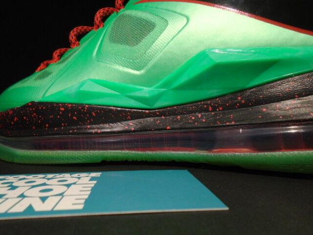 2012 schneiden nike lebron x 10 schneiden 2012 jade turmalin grün - schwarz - rot - glasfaser 8,5 a89879