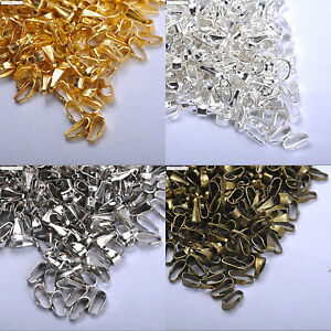 Wholesale 200pcs silver/gold/co<wbr/>pper/bronze Plated elliptic clasps 6MM