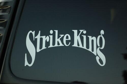 Fishing Sticker Vinyl Die Cut Decal STRIKE KING Lures Boat Truck Window V117