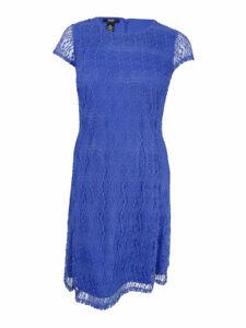 Alfani-Women-039-s-Plus-Size-Fit-amp-Flare-Lace-Dress