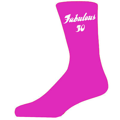 Fabulous 30 on Hot Pink Socks, Great 30th Birthday Gift