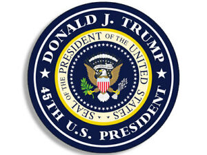 American Vinyl Trump is My President Sticker pro Donald Bumper