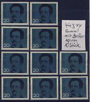 BUND Nr. 443** 10 Stück postfrisch-berührt Lassalle SPD 1964