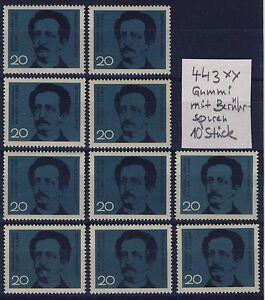 BUND-Nr-443-10-Stueck-postfrisch-beruehrt-Lassalle-SPD-1964