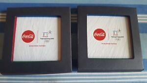 NEW-Coca-Cola-2018-Pyeongchang-Olympic-Slate-Coasters-Set-Limited-Edition-Coke
