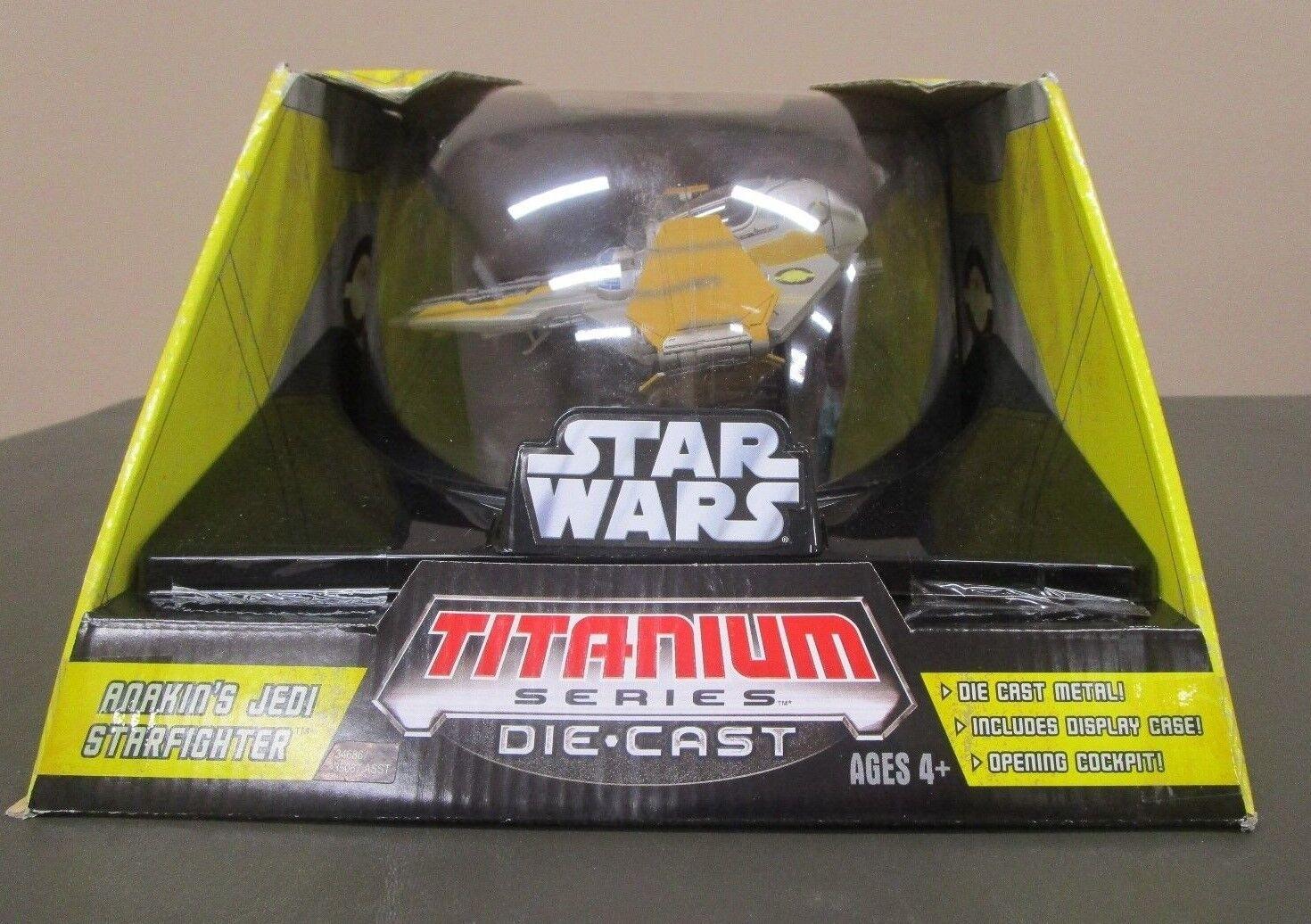 Anakin's Jedi Starfighter  Star Wars Titanium Series Die Cast 7  Grand Ultra  excellent prix