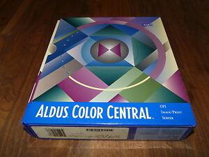 Aldus-Color-Central-2-2-fuer-MAC-englische-Version-Raritaet
