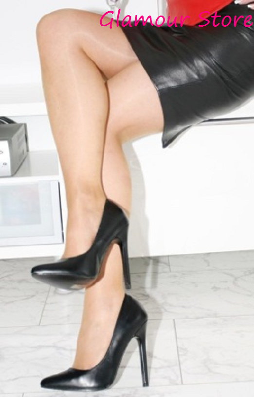 Sexy DECOLTE' DECOLTE' DECOLTE' a punta tacco 13 schwarz OPACO dal35 al 44 schuhe fashion GLAMOUR bdcdc0