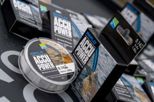 Preston Accu Power mono filament accurate diameter pole,float Hooklength line