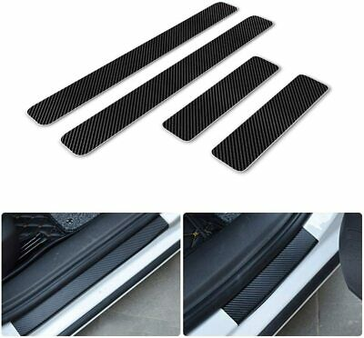 Prevent Scratching 4 Pcs MWDDM Car Door Sill Protectors Strips For Renault Clio Carbon Fiber Auto Door Threshold Plate Guard Protector Sticker