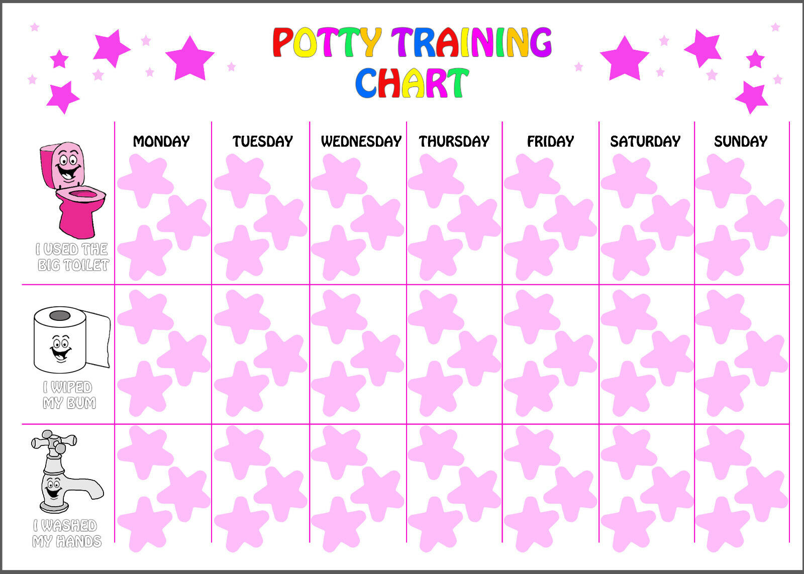 potty chart for girls