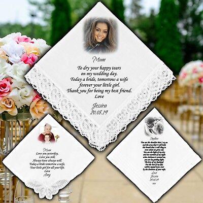 Personalised Wedding Photo Poesia Messaggio Fazzoletti Regalo Favore Fazzoletti Custom-mostra Il Titolo Originale Conveniente Da Cucinare