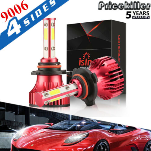 4 Side H4 H7 H11 9005 9006 390W 58500LM LED Headlight Kit CREE Hi Low Bulb 6000K