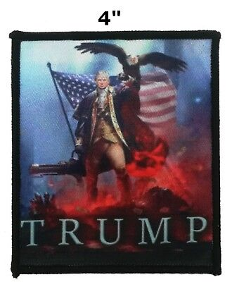Donald Trump Make America Great Again MAGA Flag Embroidered Iron or Sew-on Patch