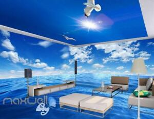 Image Is Loading Pure Blue Sky Ceiling Ocean Wall Murals