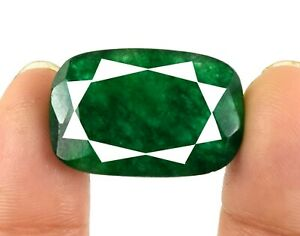 Cushion 29.75 Ct Colombian Emerald Gemstone Natural Certified V5028 Holiday Sale