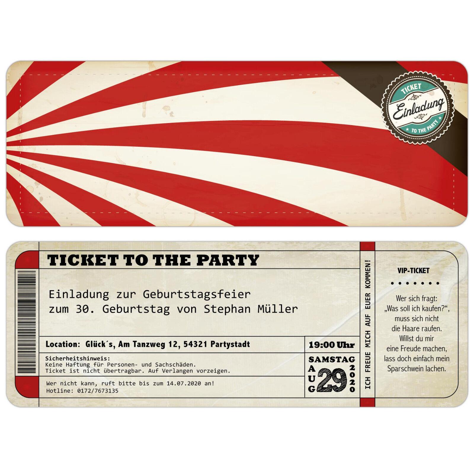 Tarjetas de invitación para mi cumpleaños como boleto-ticket-invitación-mapa
